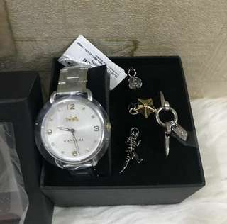 Coach Watch Set with Bracelets and Charms