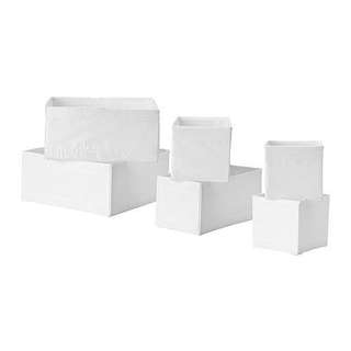 IKEA SKUBB box, set of 6 (foldable)