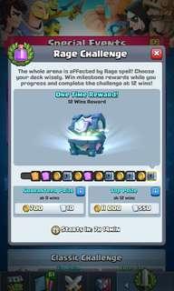 Clash Royale - Rage Challenge