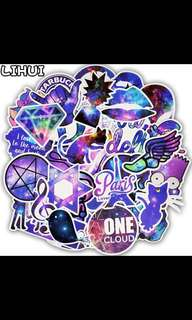 Galaxy Sticker Stars Dream Anime Cartoon Stickers for DIY Luggage Laptop Skateboard Car Motorcycle Bicycle Stickers