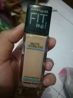 Maybelline fit me matte+poreless shade 128 warm nude