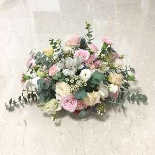Rustic Fresh Flower Arrangement / Bridal Car Decorations