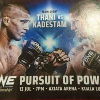 One Championship Pursuit Of Powerr MMA