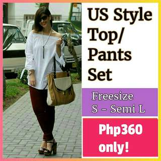 📚 New! Sale Price! Loose style top fits S - Semi L, Pants fits up to 29 waistline
