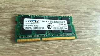Crucial 4GB DDR3L - 1333 for MacBook / Pro