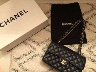 Authentic Chanel Double Flap Caviar