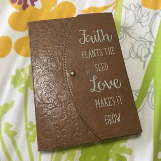 Classic Brown Faith Love Notebook