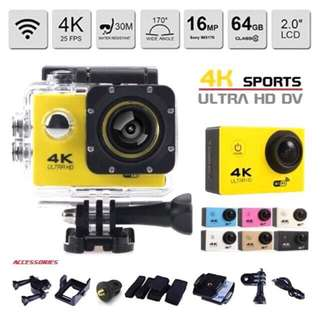 4K 16MP Action Camera with Wi-Fi and Waterproof