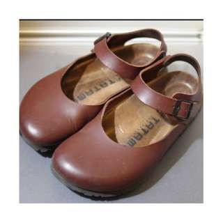 德國 勃肯 Birkenstock TATAMI Volga 娃娃鞋 包頭鞋 涼鞋 深咖啡 38號
