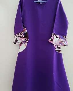Jubah Hanis by N'huda Design (Purple)