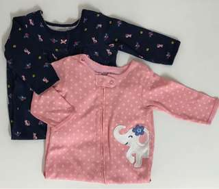 Carter's Footed Sleepsuits (6mths)