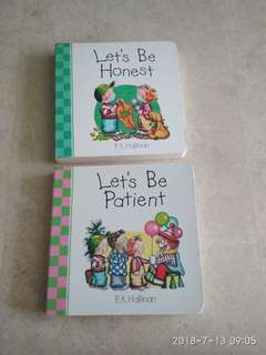 Children Story Book : 1) Let's be Patient. 2) Let's be Honest