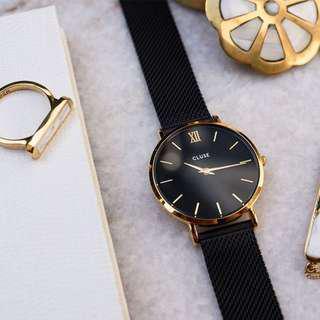 CLUSE MINUIT MESH GOLD/BLACK  荷蘭錶金屬錶帶 33 mm 預購