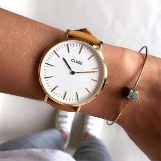 CLUSE LA BOHÈME GOLD WHITE/YELLOW  荷蘭錶金色 白色/芥末黃 38 mm 預購