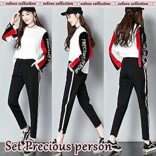 Kaos senam celana training blouse fashion wanita olshop surabaya murah ootd trusted supplier jogging