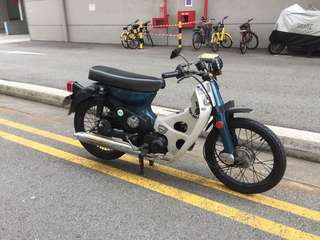 Honda c70 total price is 5.5k ( scrap value 3.5k and plate number F only )