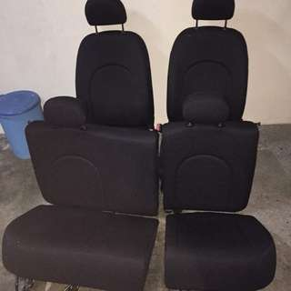 Seat red dot passo boon for myvi