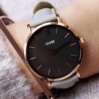 🚚 CLUSE MINUIT ROSE GOLD BLACK/GREY  荷蘭錶金屬錶帶 33 mm 預購