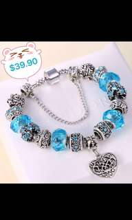 $39.90 INSTOCKS!  (BN) S925 Silver Charm Bracelet with real Swarovski - From KOREA!