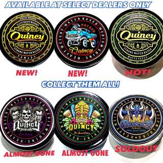 Quincy Limited Edition Pomades Selling Fast Collect Them all