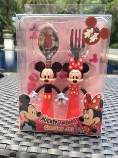 Brand new Mickey and Minnie cutlery set