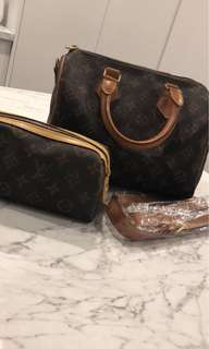 New LV bag + makeup case
