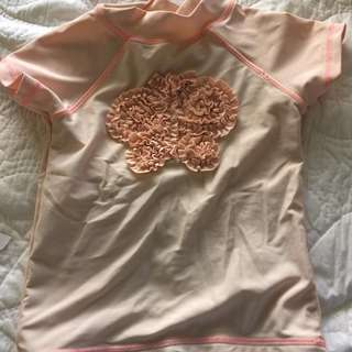 COTTON ON PEACH SWIMSUIT  TOP (GIRLS) 1 YEAR OLD