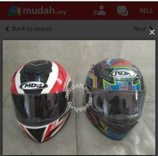 Helmet full face MDS & RDX