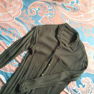 olive green button down dress