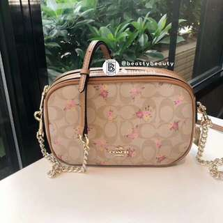 Coach Isla Chained Crossbody with Floral Print