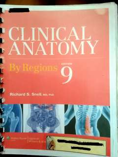 Snell's Clinical Anatomy By Regions 9th Edition