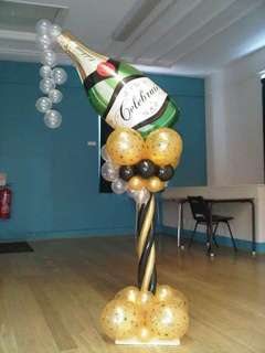 "39"" Champagne Bottle Foil Balloon (with helium)"