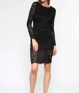 Jorge black lace dress