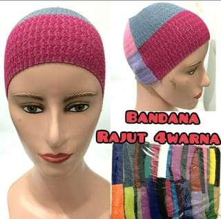 Ciput rajut / bandana rajut / romal hijab
