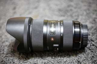 Sigma 18-35mm Art lens (EF Canon mount)