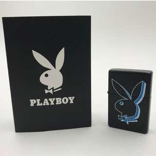 HX-T1-CL2  PLAYBOY黑色+藍色-兔仔頭公仔 打火機