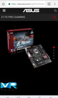 Asus Z170 Pro Gaming motherboard + i5-6600k processor