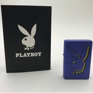 HX-T1-CL7  PLAYBOY紫藍色-兔仔頭公仔 打火機