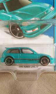 hot wheels honda civic ef teal hotwheels