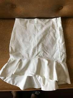 Zara White Pencil Skirt