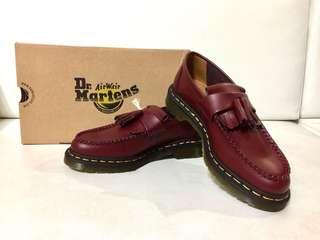 🚚 降價❗️全新 Dr. Martens Adrian Cherry Red Smooth 馬汀大夫 流蘇樂福鞋 櫻桃紅 UK6