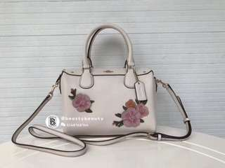 Coach Mini Bennett Satchel with Floral Embroidery