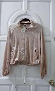 H&M pink velvet jacket