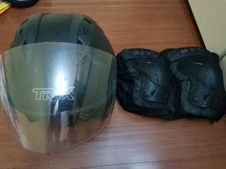 Biker's protective gear