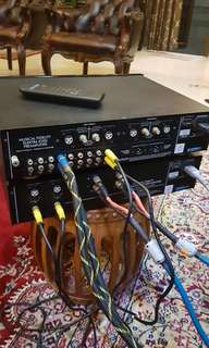 Musical fedality power amp and pre amp Electra E200 & E300