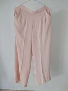 Kulot pants, warna nude peach