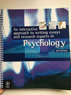 AN INTERACTIVE APPROACH TO WRITING ESSAY AND RESEARCH REPORT IN PSYCHOLOGY 3rd ed