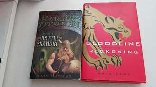 Rangers Apprentice Book 4. The Battle for Skandia. / Bloodline Reckoning. Book two. /$4 each. 2 for $7.