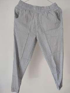 Joger pants stripe navy blue