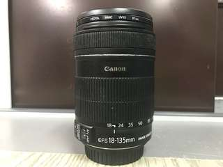 Canon lens EFS 18-135mm Image Stabilizer